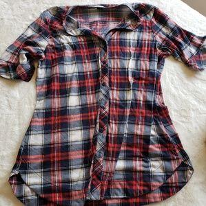 Tops - Half sleeve plaid shirt